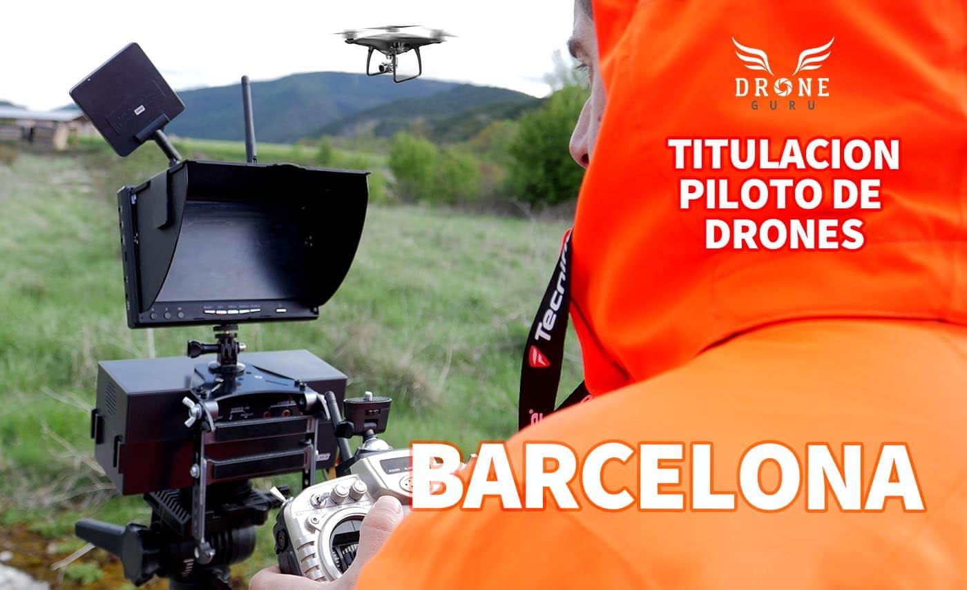 Titulación oficial piloto de drones en Barcelona