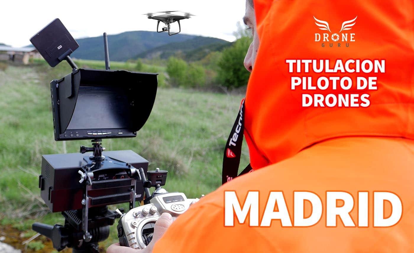 Titulación oficial piloto de drones en Madrid