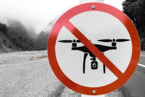 Prohibido volar con drones