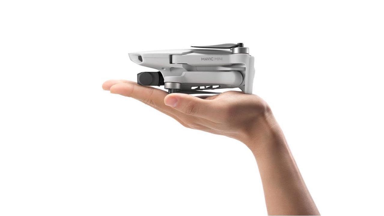Mavic Mini, tamaño sobre la mano