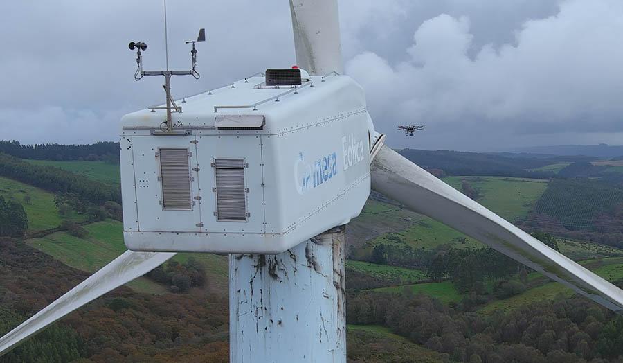 Inspección de aerogeneradores con dron