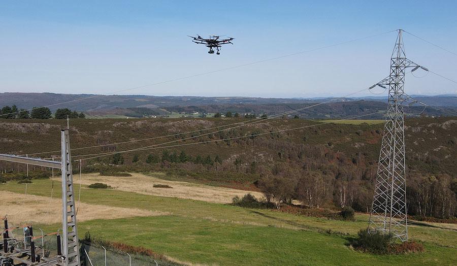inspecciones-tendidos electricos con drones