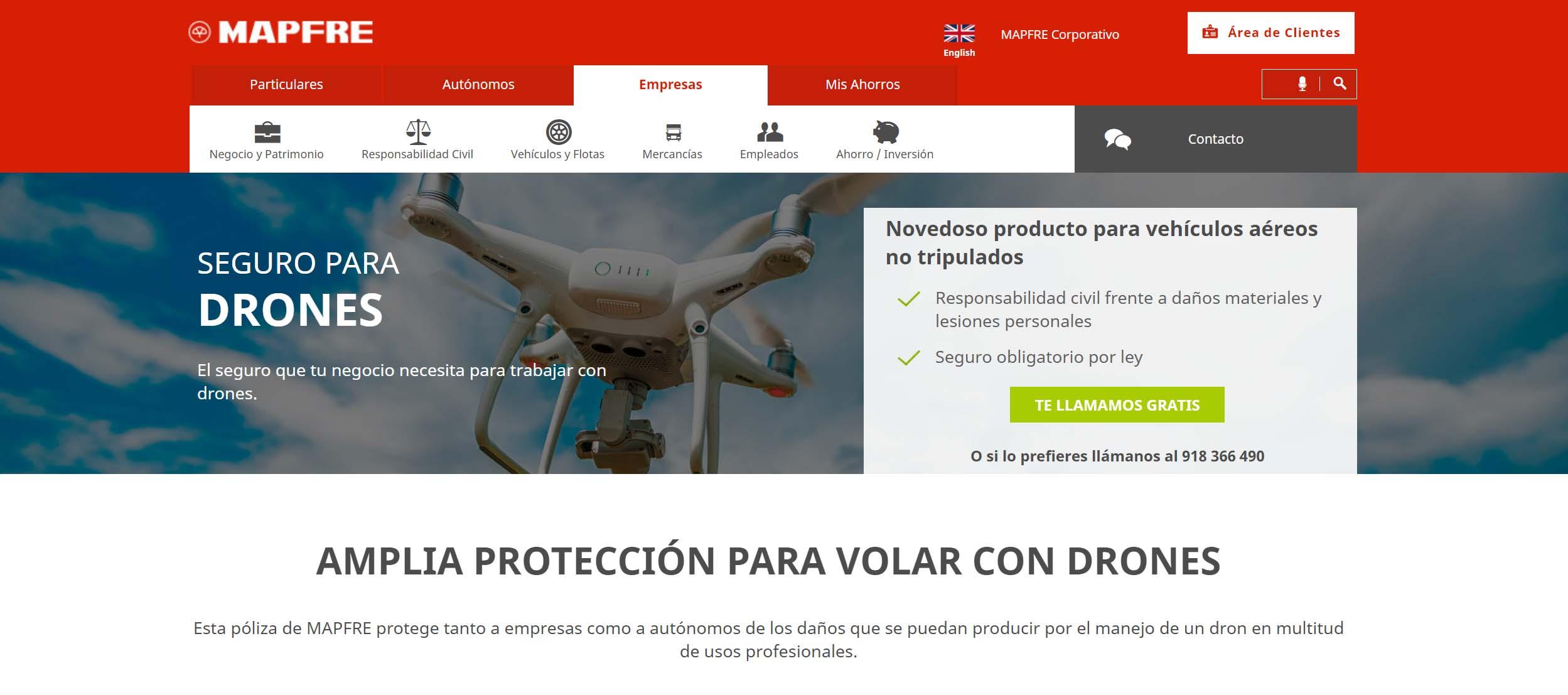 Seguro-para-drones-Mafre