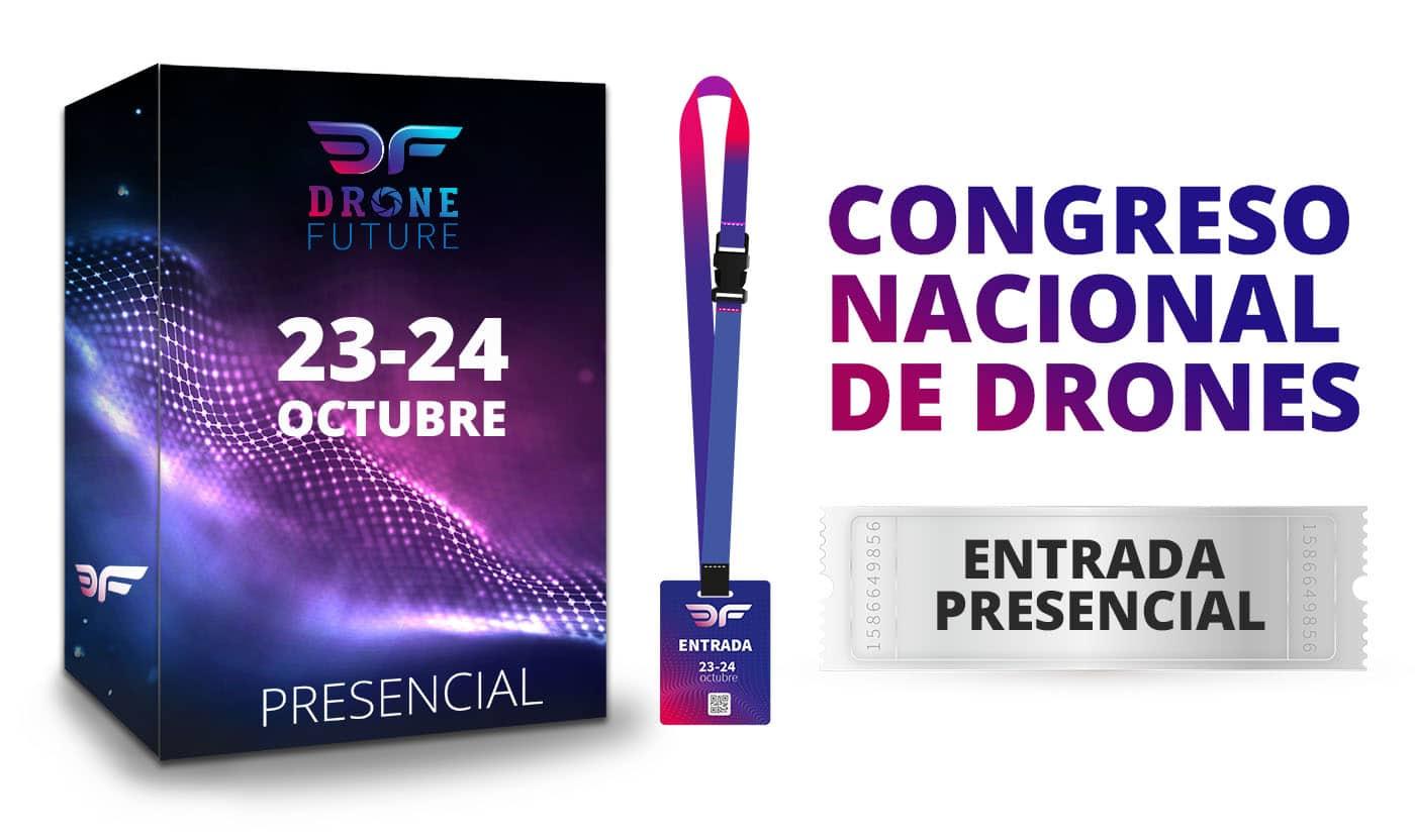 Entrada Presncial congreso DroneFuture