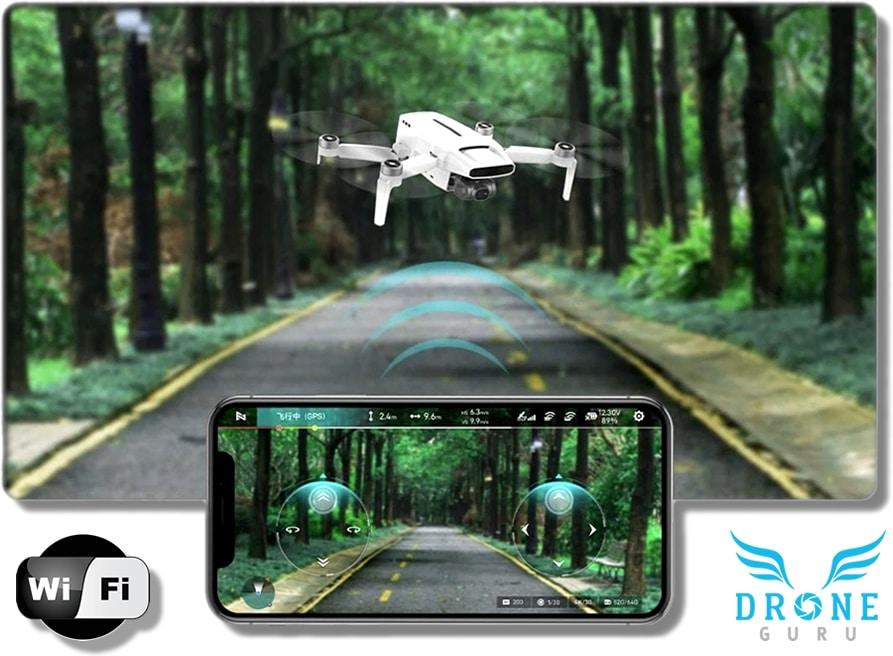 Control vía Wifi del dron Fimi X8